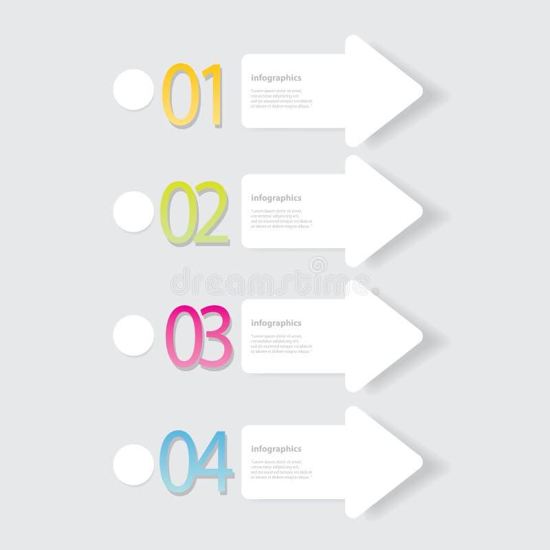Moderne vlakke ontwerpinfographics vector illustratie