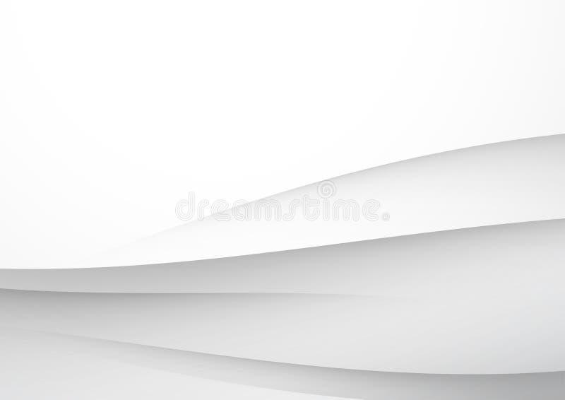 Moderne vlotte grijze futuristische abstracte lijnen royalty-vrije illustratie