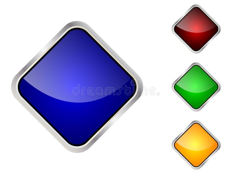 Moderne Web-Taste lizenzfreie abbildung