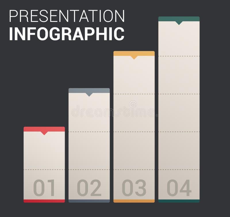 Moderne weiche Farbeauslegung Schablone/infographics vektor abbildung