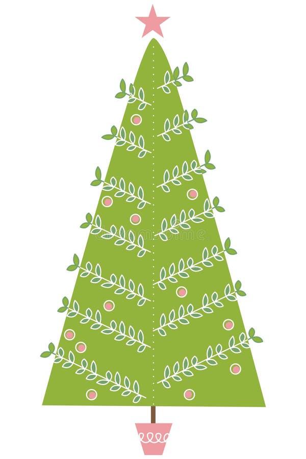 Moderne Weihnachtsbaum-Abbildung lizenzfreie abbildung