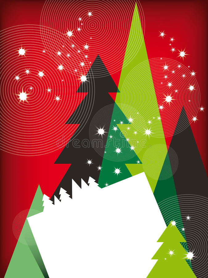 Moderne Weihnachtsgruß-Karte lizenzfreies stockfoto