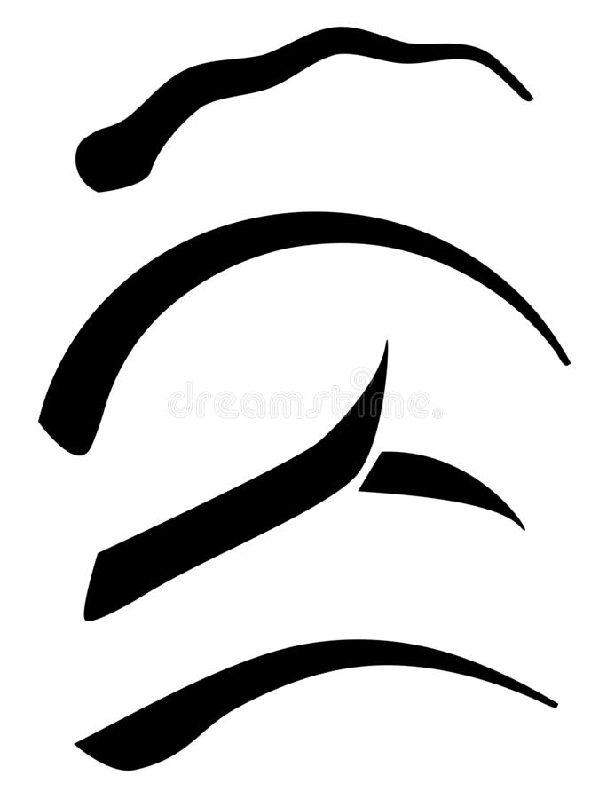 Moderne wenkbrauwvormen vector illustratie