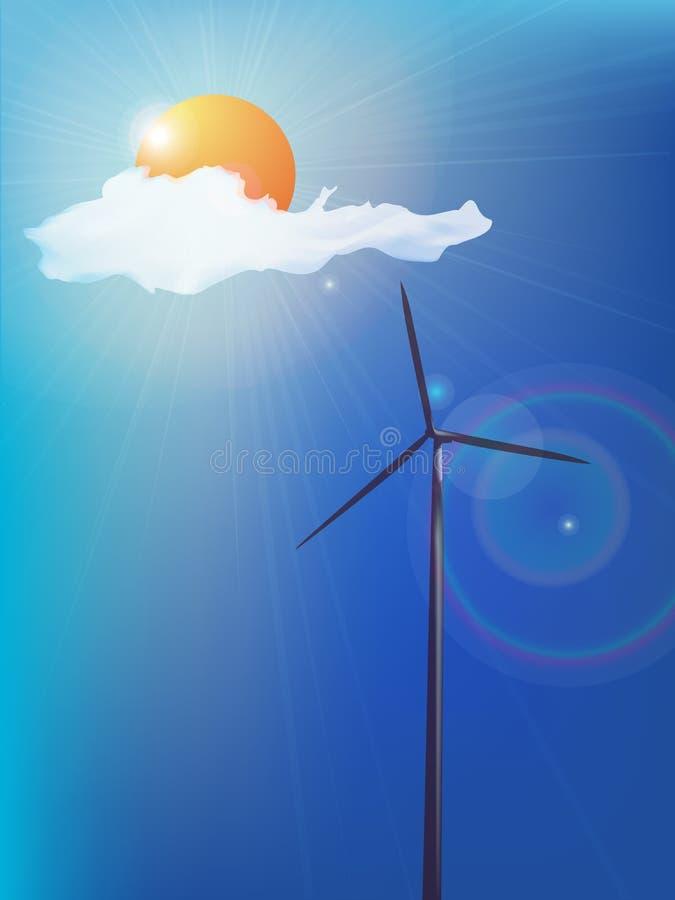 Moderne Windmühle lizenzfreie abbildung