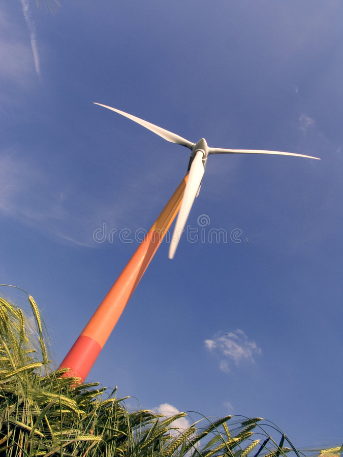 Moderne Windmühle 5 stockfoto
