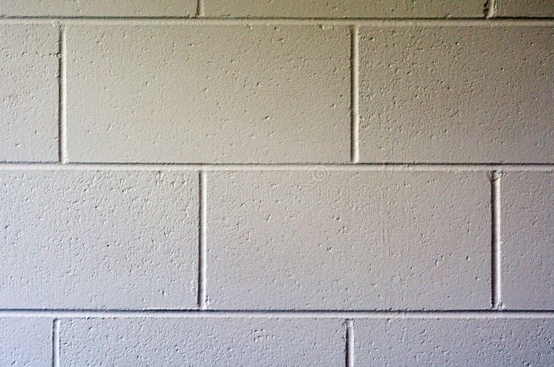 Moderne witte bakstenen muur. royalty-vrije stock afbeeldingen
