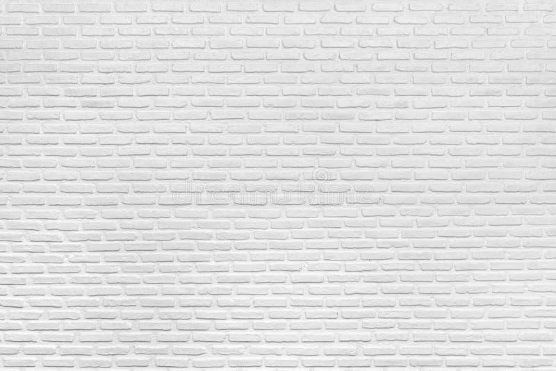 Moderne Witte Bakstenen muurtextuur en Achtergrond stock foto's