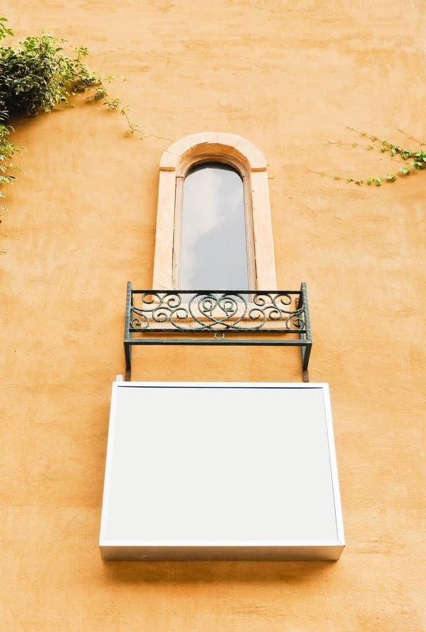 Moderne witte raad royalty-vrije stock afbeeldingen