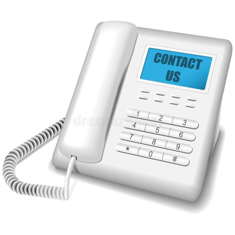 Download Moderne witte telefoon. vector illustratie. Illustratie bestaande uit knoop - 10775249