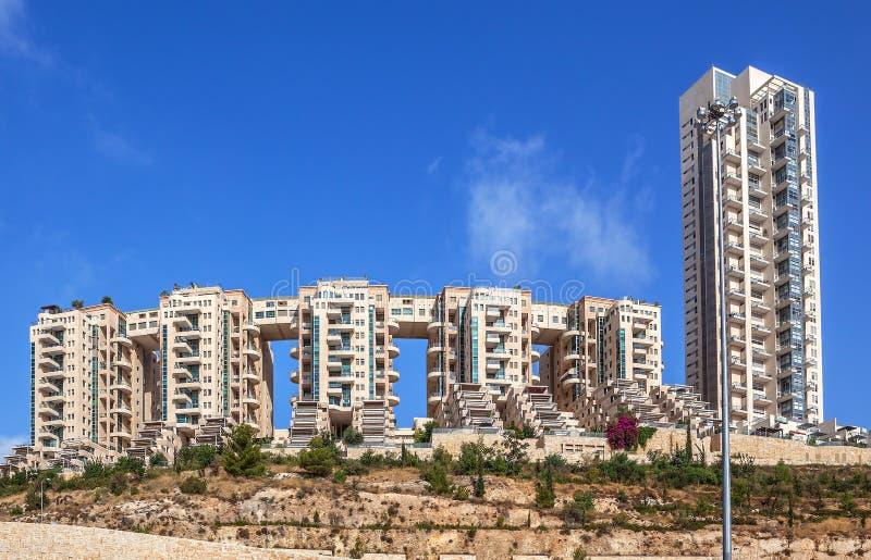 Moderne Wohngebäude in Jerusalem, Israel stockfotos