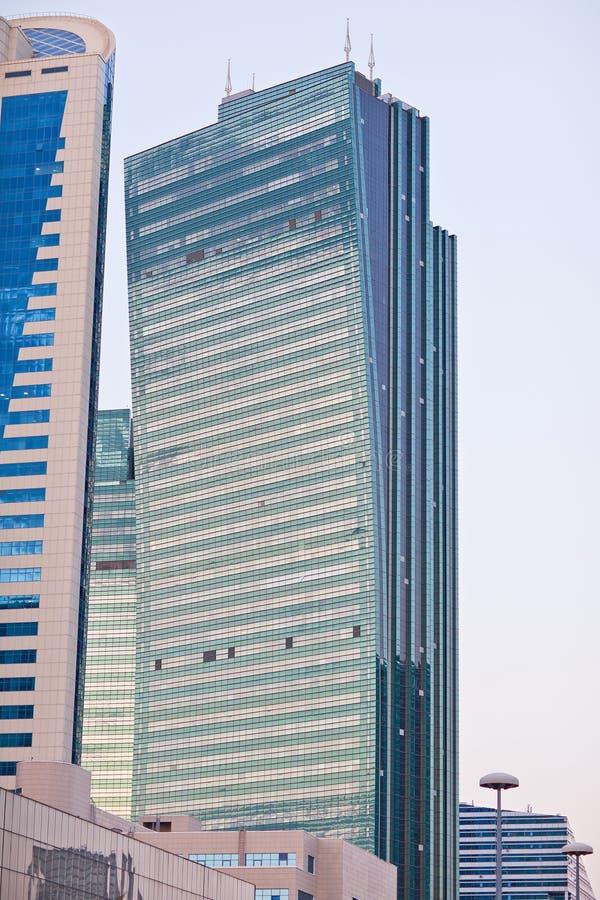 Moderne wolkenkrabbers in de Astana-stad, Kazachstan stock afbeelding