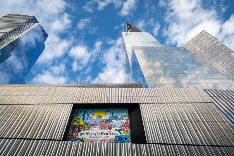 Moderne Wolkenkratzer, die in Midtown Manhattan konstruiert werden stockbilder