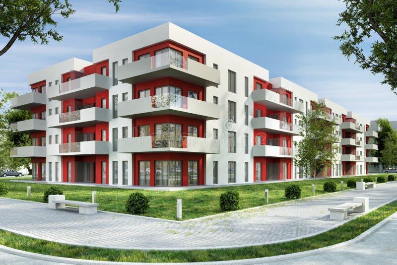Moderne woningbouw in de stad stock foto's