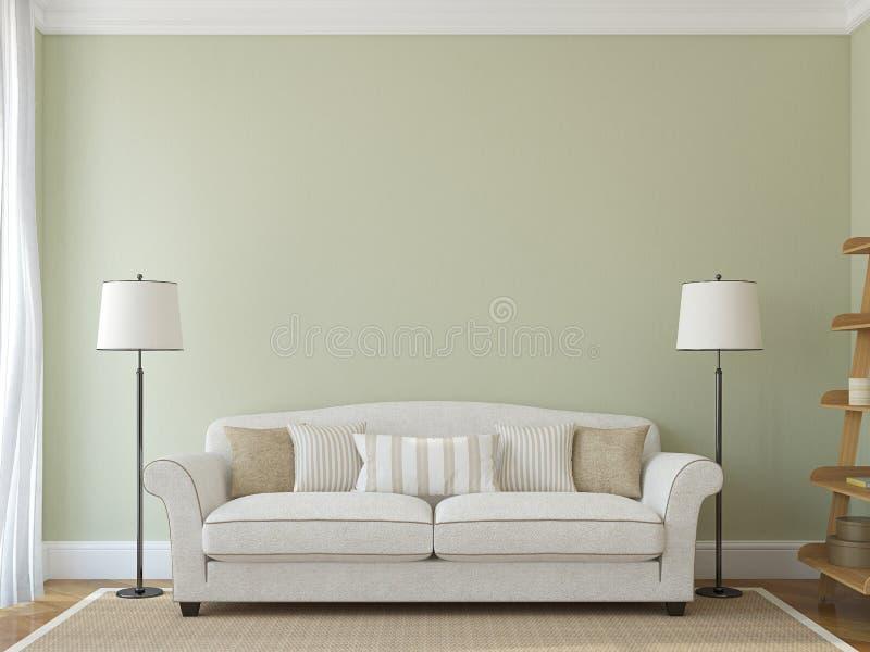 Moderne woonkamer stock illustratie