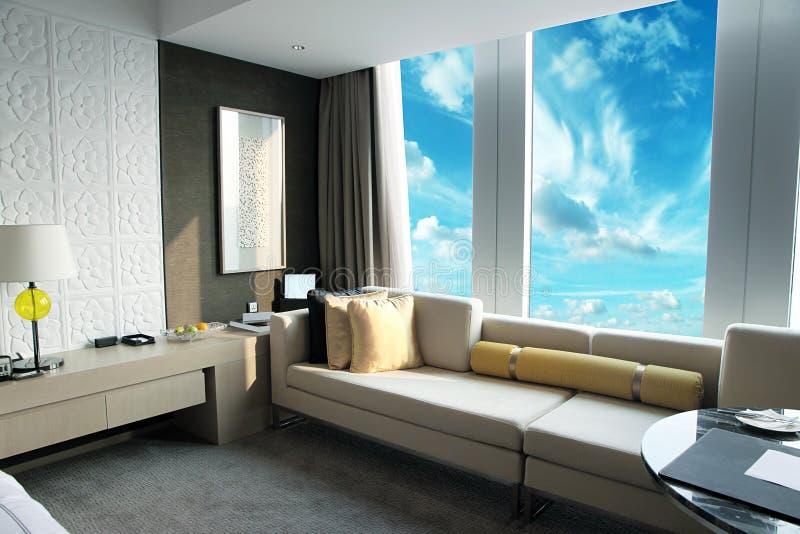 Moderne woonkamer stock afbeeldingen