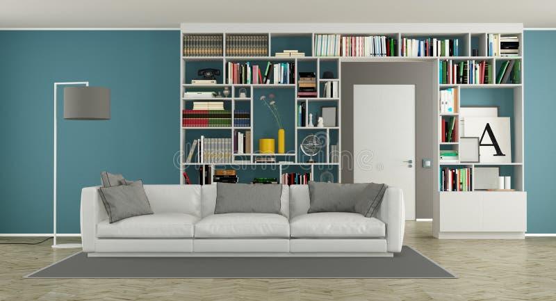 Woonkamer Met Boekenkast : Roze fauteuil kast houten lamp planten boekenkast woonkamer