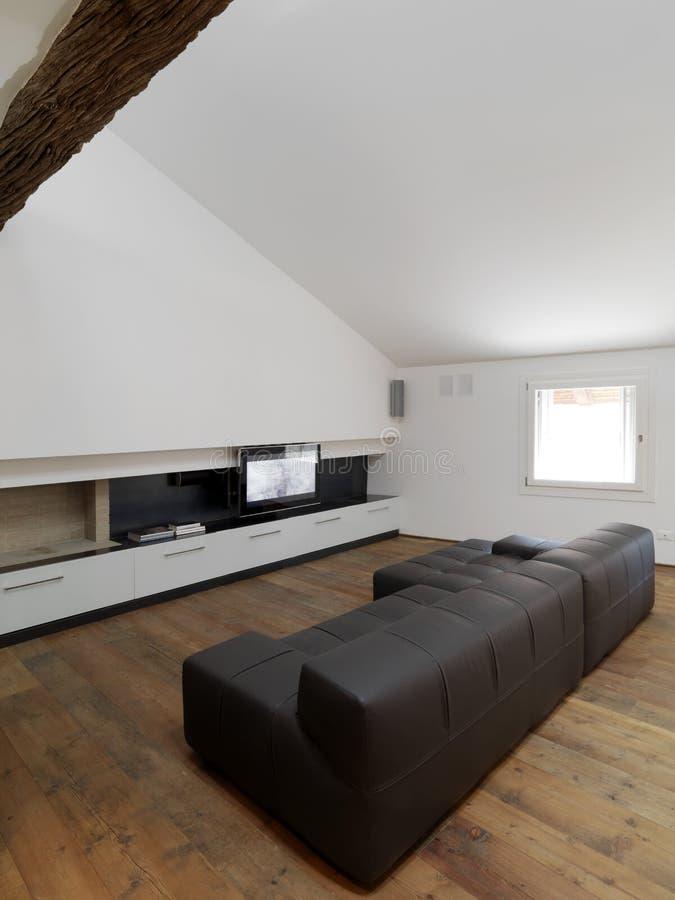 Moderne woonkamer met open haard stock afbeelding afbeelding 20856931 - Deco moderne open haard ...