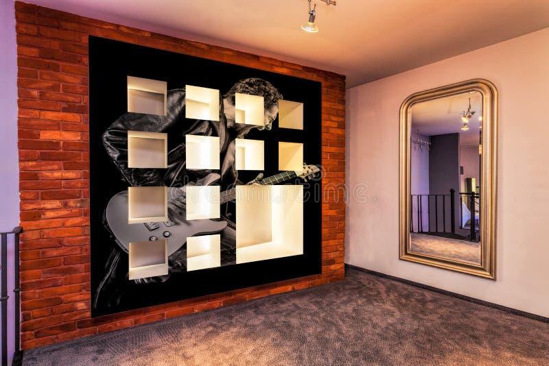 Moderne zaal in een vlakte royalty-vrije stock afbeeldingen