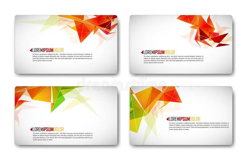 Moderne zaken-Kaart Reeks stock illustratie