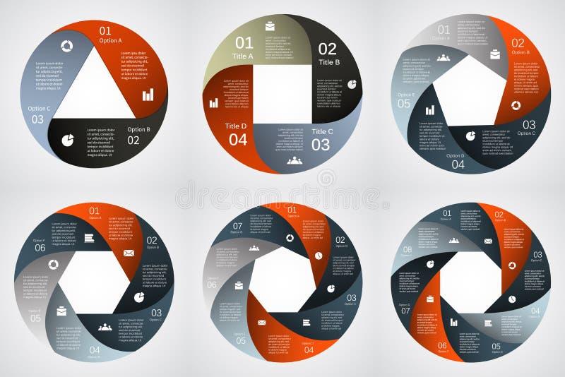 Moderne Zeigerinformationsgraphik für Geschäftsprojekt vektor abbildung