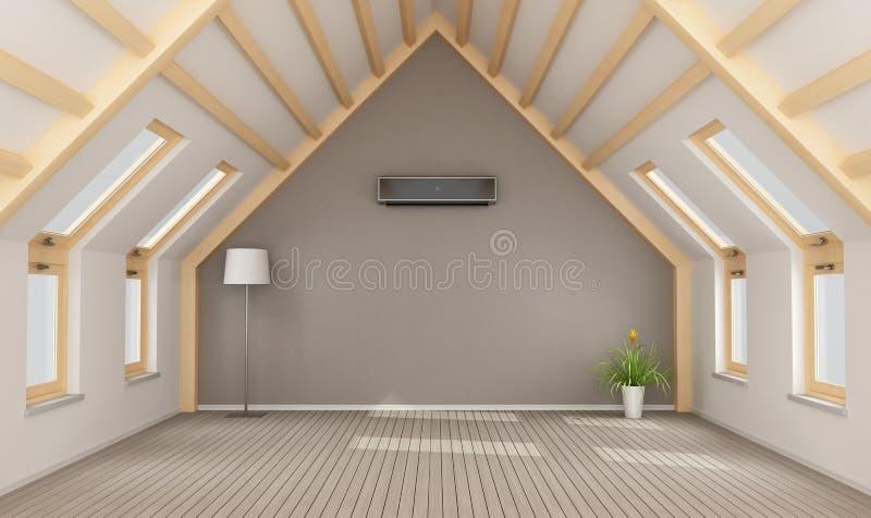 Moderne zolder zonder meubilair royalty-vrije illustratie