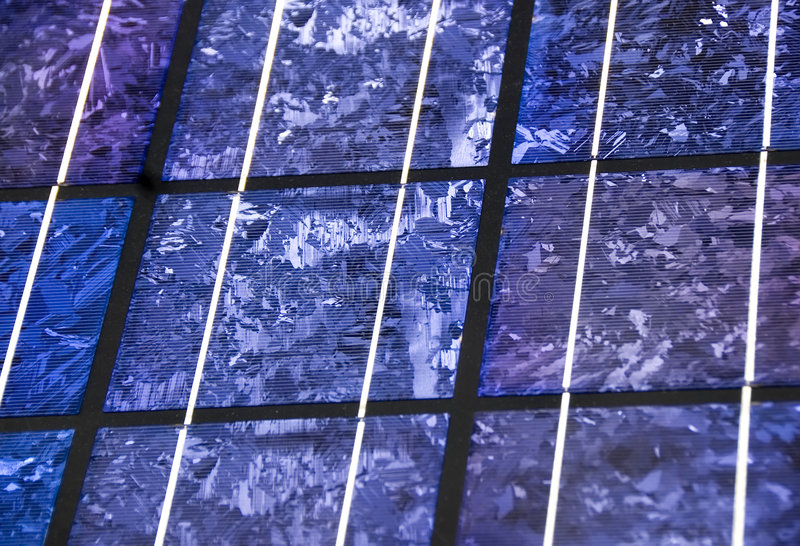 Moderne zonnecelclose-up royalty-vrije stock foto's