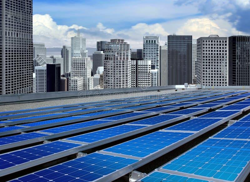 Moderne zonnepanelen royalty-vrije stock foto's