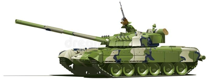 Moderne zware tank royalty-vrije illustratie