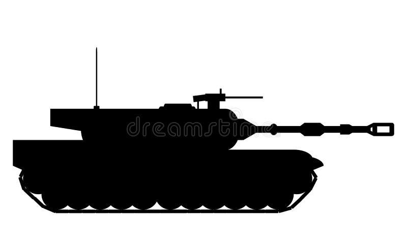 Moderne zware tank vector illustratie