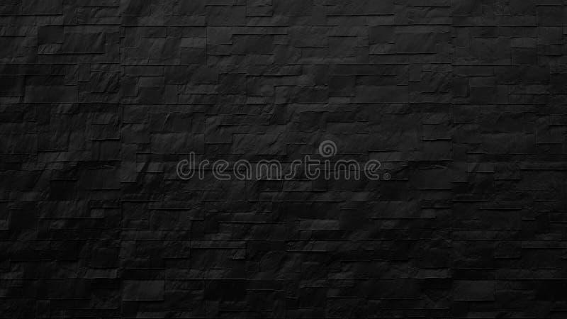 moderne zwarte bakstenen muurachtergrond vector illustratie