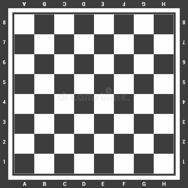 Moderne zwarte schaakraad met letters en getallen achtergrondontwerp vectorillustratie royalty-vrije illustratie