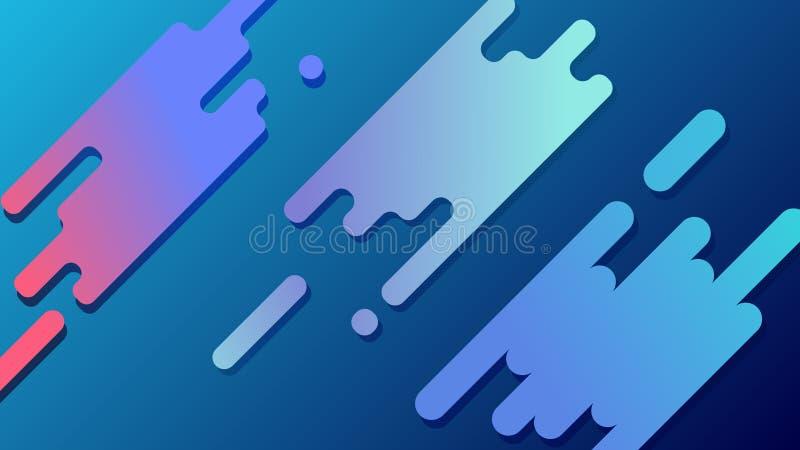 Moderner abstrakter bunter Formhintergrund-Entwurfsvektor Abstrakte blaue Zeile lizenzfreie abbildung