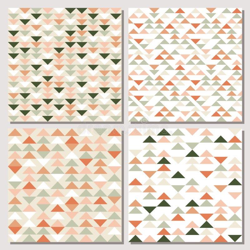 Moderner abstrakter geometrischer Hintergrund mit Dreiecken vektor abbildung