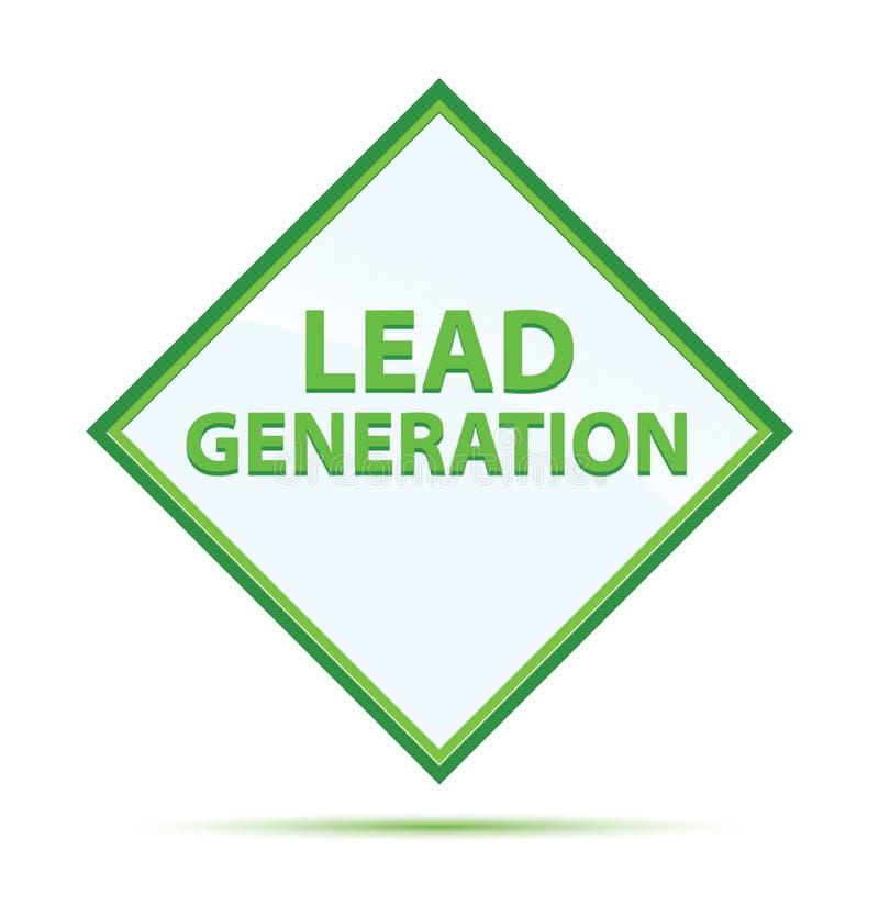 Moderner abstrakter grüner Diamantknopf der Führungs-Generation vektor abbildung