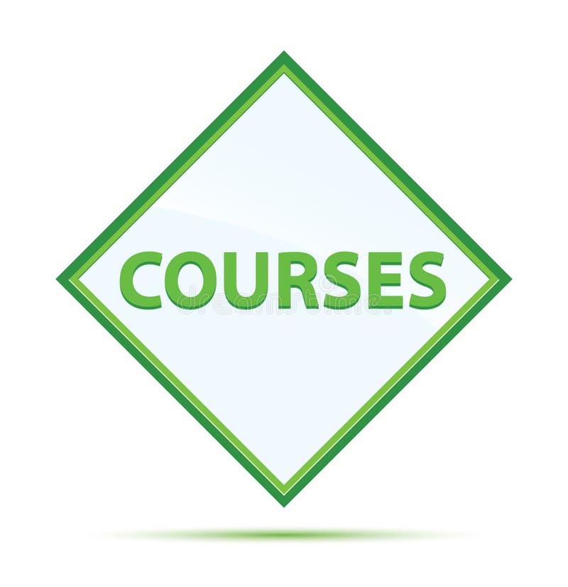 Moderner abstrakter grüner Diamantknopf der Kurse lizenzfreie abbildung