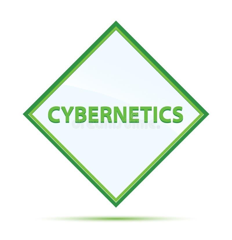 Moderner abstrakter grüner Diamantknopf der Kybernetik vektor abbildung