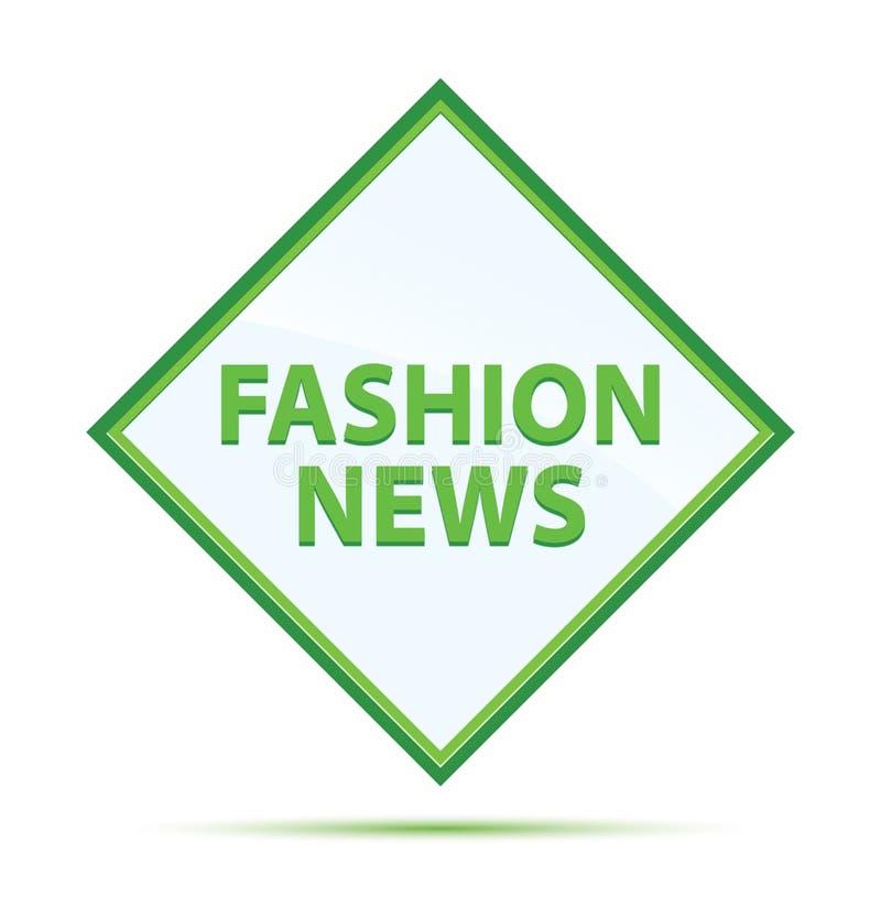 Moderner abstrakter grüner Diamantknopf der Mode-Nachrichten lizenzfreie abbildung