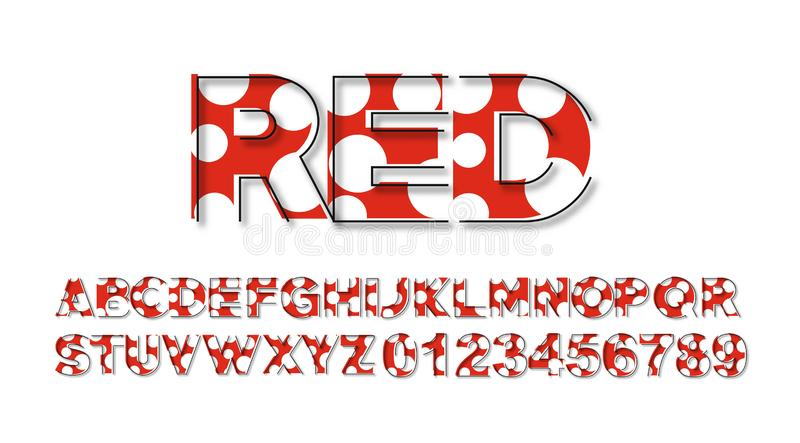Moderner abstrakter Guss-Satz des Alphabet-Text-Entwurfs lizenzfreie abbildung