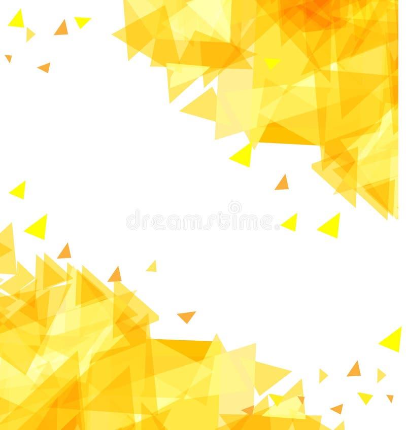 Moderner abstrakter Hintergrund von chaotisch beweglichen Dreiecken lizenzfreie abbildung