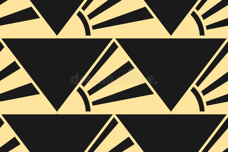 Moderner Art Deco-Hintergrund stock abbildung