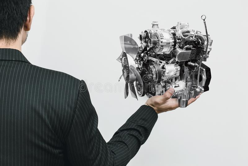 Moderner Automotor kleines Eco und Leichtgewichtler lizenzfreie stockfotografie