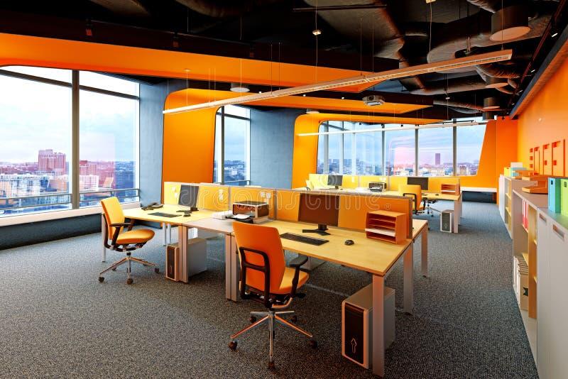 Moderner Büroinnenraum lizenzfreie abbildung