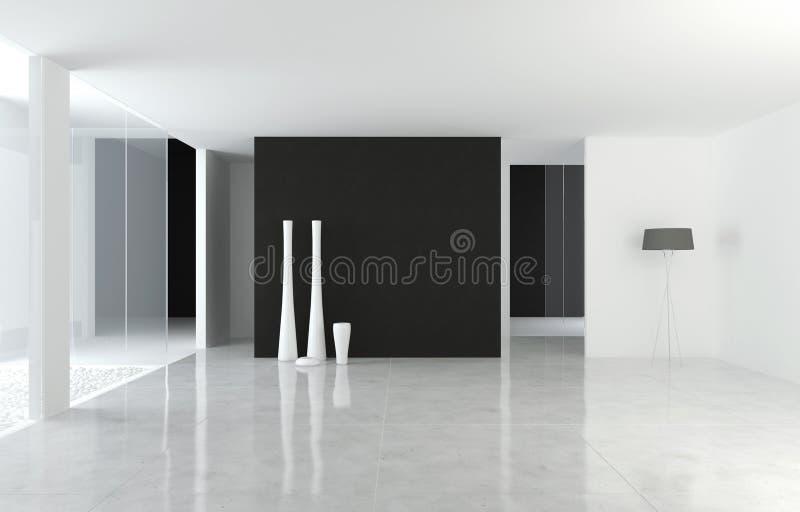Moderner B&W Platz der Innenarchitektur vektor abbildung