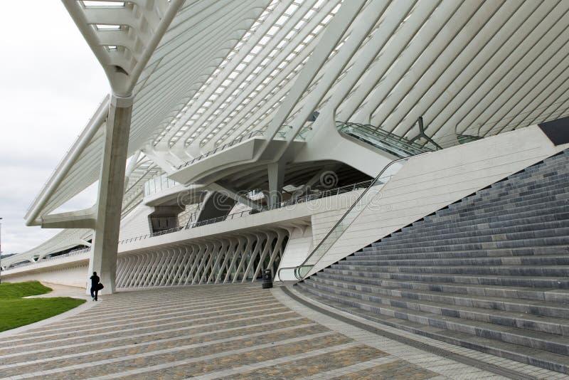 Moderner Bahnhof Liège-Guillemins Luik-Guillemins stockfoto