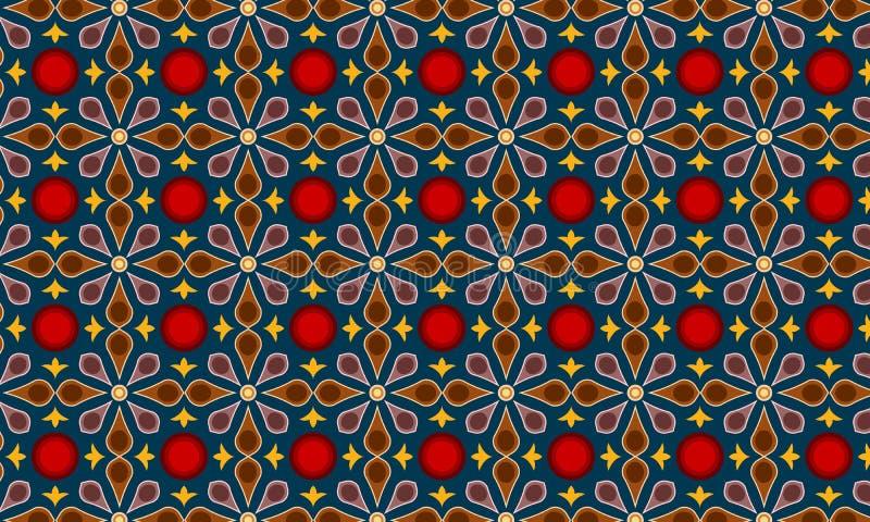 Moderner Batik-Muster-Vektor stock abbildung