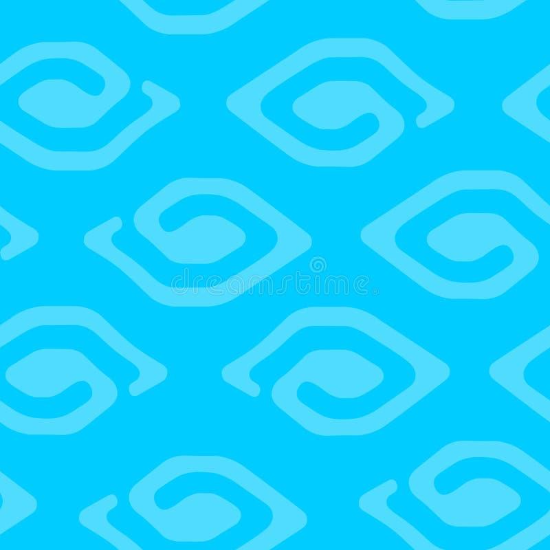 Moderner blauer ethnischer nahtloser Musterhintergrund stockfoto