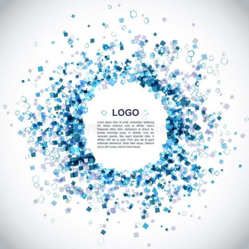 Moderner blauer Hintergrund lizenzfreie abbildung