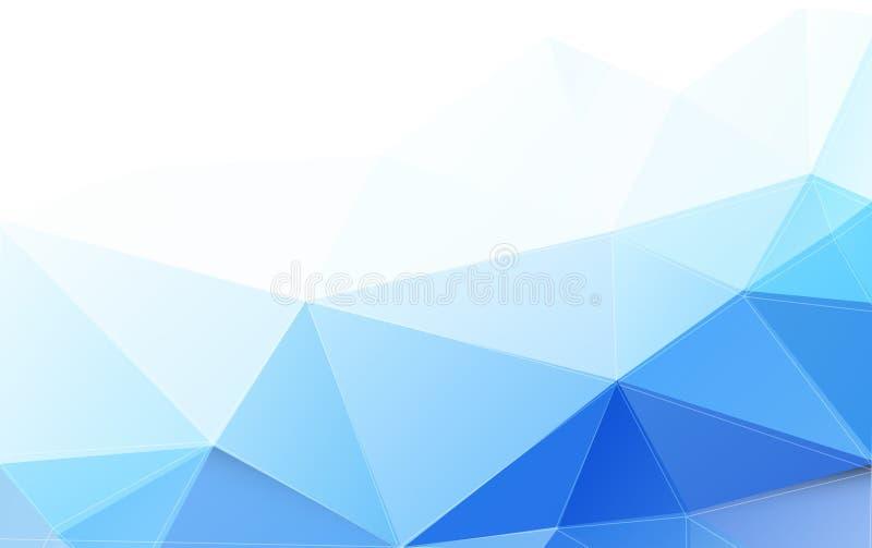 Moderner blauer Polygonhintergrund und -raum für Ihren Text lizenzfreie abbildung