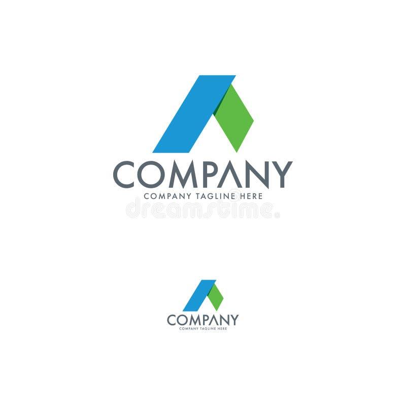Moderner a-Buchstabe Logo Design Template lizenzfreie abbildung