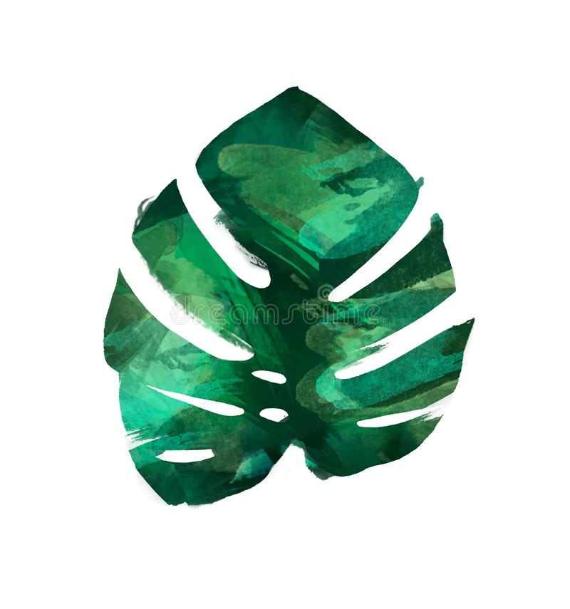 Moderner dekorativer Elementsatz des Aquarells Runder grüner Kranz Blatt des Eukalyptus, Grünniederlassungen, Girlande, Grenze, R lizenzfreie abbildung